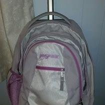 Jansport Rolling Wheeled School Luggage Computer Gray With Pink Backpack Photo