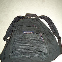 Jansport Rubber Bottom Black Backpack Book Bag  Clean Excellent Condition Photo