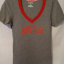 Jansport Santa Clara Tshirt Juniors Large Gray Red University College Vneck Top Photo