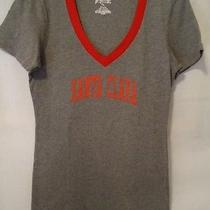 Jansport Santa Clara Tshirt Juniors Xl Gray University Logo College Vneck Top Photo