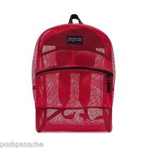 Jansport Scarlet / Bright Red Mesh Pack See Through Backpack Tsa Friendly  Photo