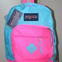 Jansport Sea Blue & Pink City Scout Backpack Book Bag New 65.00 T29a1k2 T29a Photo