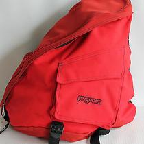 Jansport Sling Backpack One Strap Red Shoulder Bag Phone Pouch Used Photo