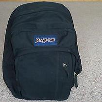 Jansport Solid Black Big Backpack/messenger Bag Photo
