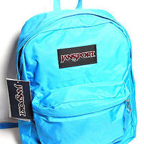 Jansport Solid Blue Superbreak Unisex Backpack - Nwt Photo