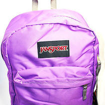 Jansport Solid Purple Superbreak Unisex Backpack - Nwt Photo