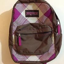Jansport  Student Backpack Books Pink Plaid Photo