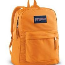 Jansport Student  Orange Tangerine Superbreak School Book Bag Sling Backpack Photo