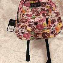 Jansport Super Break Backpack Multi Donuts New With Tags Photo