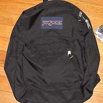 Jansport Super Break Solid Black Backpack Nwt Photo