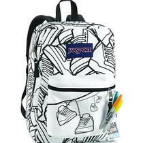 Jansport Super G School Backpack (White/black Sneaks) Photo