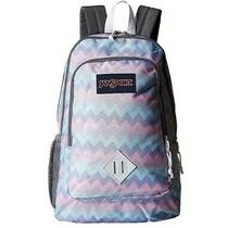 Jansport Super Sneak Backpack Geometric Pastel Chevron New With Tag Photo