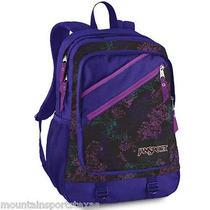 Jansport Superbad Backpack Black/electric Purple Tattered Lace Photo