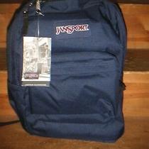 Jansport Superbreak 25l Navy Blue School Carrying Bag Backpack Bookbag Nwt Photo