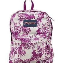 Jansport Superbreak Backpack Berrylicious Vintage Floral Canvas School Book Bag Photo