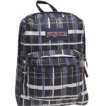 Jansport Superbreak Backpack (Blue Streak Painted Plaid) Photo