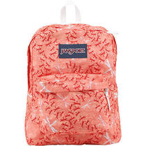 Jansport Superbreak Backpack Coral Peaches Dragon Flight Dragonflies New Bag Photo