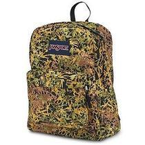 Jansport Superbreak Backpack Green Battle Ground Camo School College Book Bag Photo