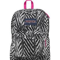 Jansport Superbreak Backpack Grey Tar Wild at Heart Nwt Free Shipping Photo