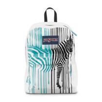 Jansport Superbreak Backpack in Bayside Blue Zebra T5011y9 Photo