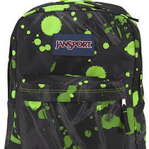 Jansport Superbreak Backpack  Lime Green Super Splash  School College  New Photo
