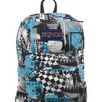 Jansport Superbreak Backpack Mammoth Blue Street Scene School Bag College Pack Photo
