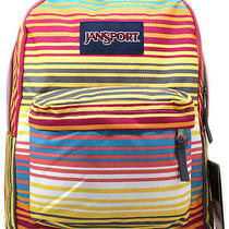 Jansport Superbreak Backpack  Multi Sunset Stripe  Stripes  School College Photo