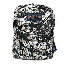 Jansport Superbreak Backpack Paintball Graphic Black White New School Travel Photo