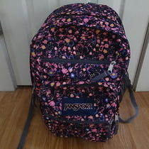 Jansport Superbreak Backpack Pink Pansy Ditzy Daisy Flowers School College Photo