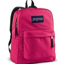 Jansport Superbreak Backpack Pink Tulip Book School Bag College Outdoor Pack Photo