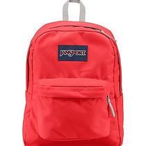 Jansport Superbreak Backpack School Book Bag Coral Dusk Red New  Photo