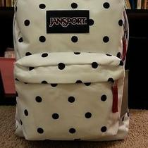 Jansport Superbreak Backpack White Black Gracie Dot School College New Photo
