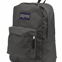 Jansport Superbreak Forge Dark Grey Gray Charcoal Backpack School Book Bag  Photo