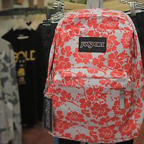 Jansport Superbreak Fx Pink Fun Floral Bookbag Backpack Photo
