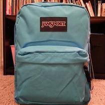 Jansport Superbreak Mammoth Blueturqoise Black Backpack School College New Photo