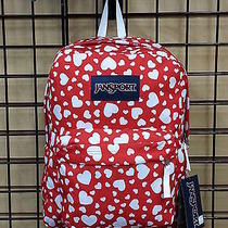Jansport Superbreak Red and White Hearts  Photo