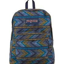 Jansport Superbreak School Backpack - Navy Moonshine Painted Chevrons T50102i Photo