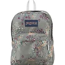 Jansport Superbreak Shady Grey Sprinkled Floral Backpack School Book Bag  Photo