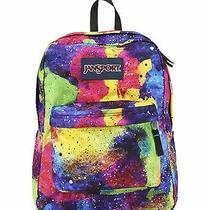 Jansport Superbreak Super Break Multi Neon Galaxy Backpack School Book Bag  Photo