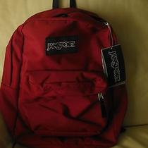 Jansport Superbreak T501 Viking Red Backpack Bookbag Napsack 48  Photo
