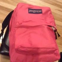 Jansport Superbreak T5019ez Backpack School Book Bag Fluorescent Pink Pre-Owned Photo