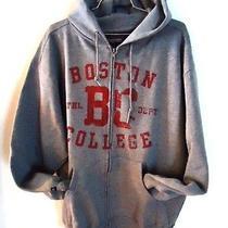Jansport Sweatshirt Boston College Mens Large Athletic Dept Hoody Zipper Gray Photo