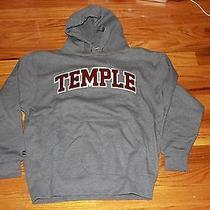 Jansport Temple University Hoodie Hood College Letterman Grey Size Large L  Photo