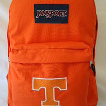 Jansport Tennessee Vols Superbreak Backpack University College Logo Orange Nwt Photo
