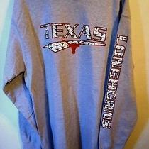 Jansport Texas Longhorns Tshirt Mens Large Long Sleeve Gray College Quality Photo