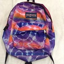 Jansport Tie Dye Compact Backpack for Daily Use Multi-Colored Hippie Pink Neon Photo