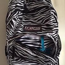 Jansport Trans Backpack Zebra Teal Supermax Pattern 4 Pocket Tm60 Photo