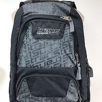 Jansport Trans Black Gray Large Backpack School Book School Laptop Bag Red Insid Photo