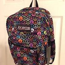 Jansport Trans Book Bag Backpack World Peace Fits 7 Books School Bag School Age Photo