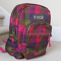 Jansport Trans Bright Color Plaid Backpack Photo